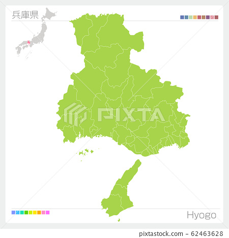 효고현의지도 · Hyogo (시정촌 · 구분) 62463628