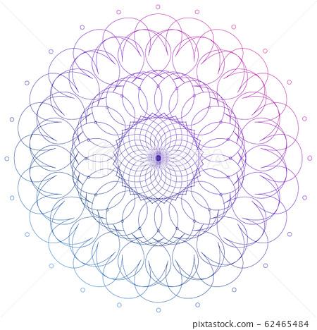 Mandala pattern design in purple color 62465484