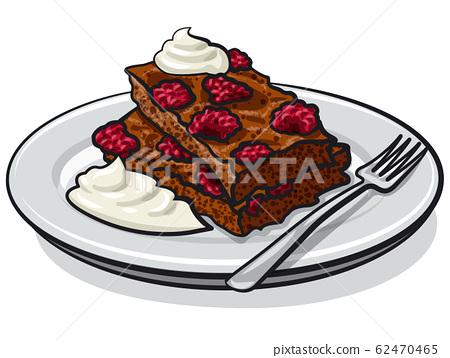 strawberry brownie 62470465