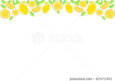 Hand painted lemon background 62471401