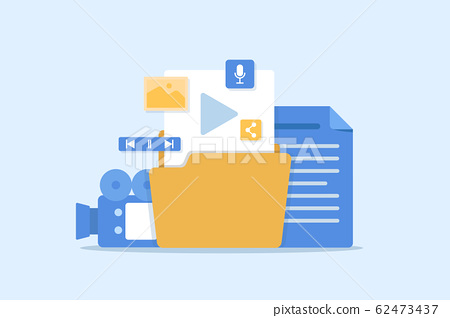 Content marketing,digital content,Blogging and SMM concept in flat design 62473437