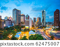 skyline of Taichung, Taiwan at night 62475007