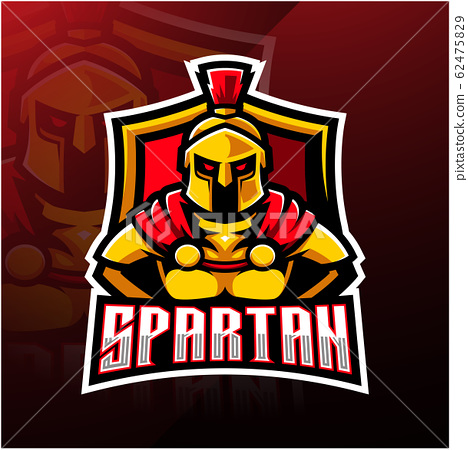 Spartan esport mascot logo design 62475829