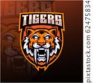 Tiger head esport mascot logo design 62475834