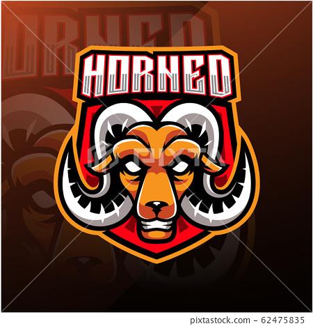 Goat head esport mascot logo 62475835