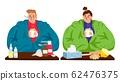 Sick caucasian man and woman 62476375