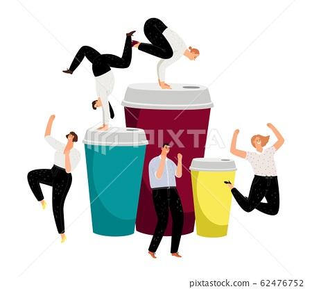 Coffee energy, active bussinesspeople 62476752