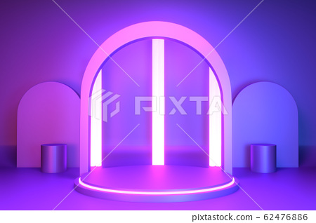 gradients purple and blue abstract podium 62476886
