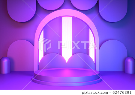 gradients purple and blue abstract podium 62476891