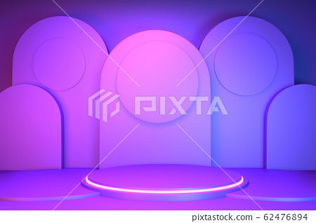 gradients purple and blue abstract podium 62476894