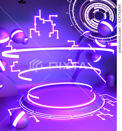 Game concept gradients purple and blue abstract 62476899