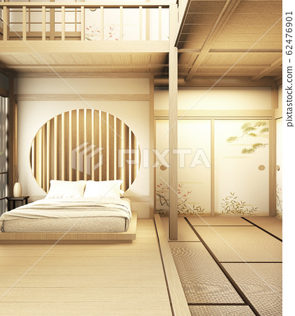 interior design Large two story room japan style. 62476901