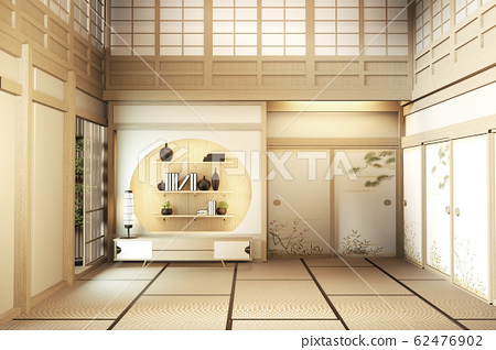 interior design Large two story room japan style. 62476902
