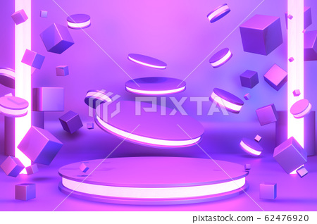 gradients purple and blue abstract podium 62476920