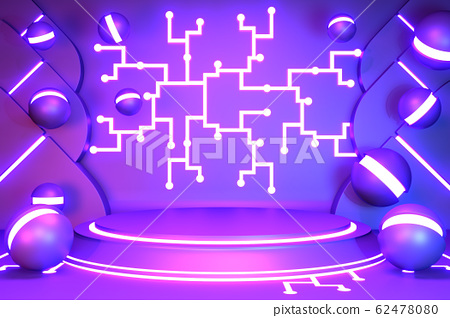 Game concept gradients purple and blue abstract 62478080