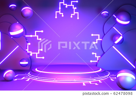 Game concept gradients purple and blue abstract 62478098