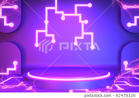 Game concept gradients purple and blue abstract 62478120