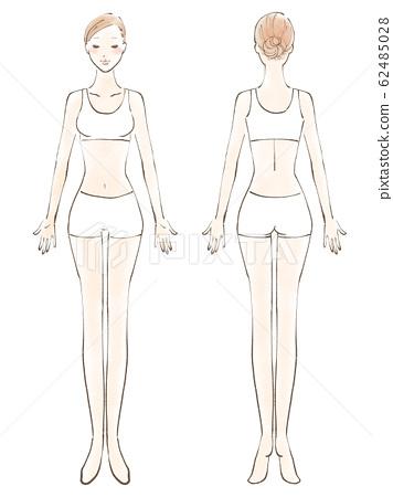 전신 여자 알몸 번째 닫기 비키니 흰색 (컬러) 62485028