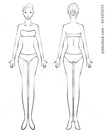 전신 여자 알몸 번째 닫기 옷 (흑백) 62485035
