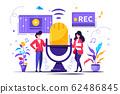 vector illustration, news, interviews 62486845