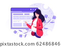 Vector illustration of a pregnant woman 62486846