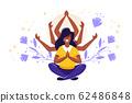 concept of meditation, health  62486848