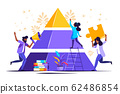 people connect the elements of the pyramid 62486854