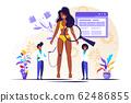 Vector illustration, medical examination  62486855