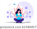 concept of meditation, health  62486857