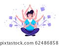 concept of meditation, health  62486858