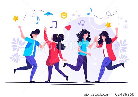 group of people dancing 62486859