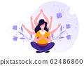 concept of meditation, health  62486860