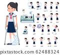 flat type school girl Sailor suit summer_sickness 62488324