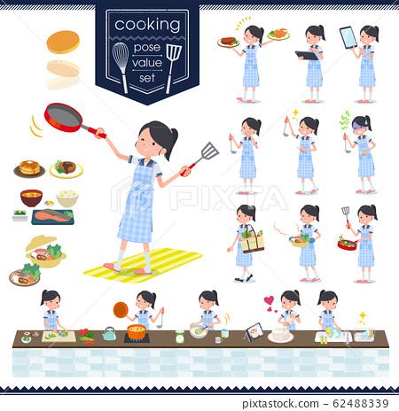 flat type school girl Sailor suit summer_cooking 62488339