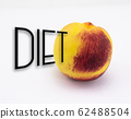 Diet concept with ripe peach of the Mediterranean 62488504