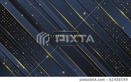 Abstract golden luxury elegant dark website banner template background image 62488599