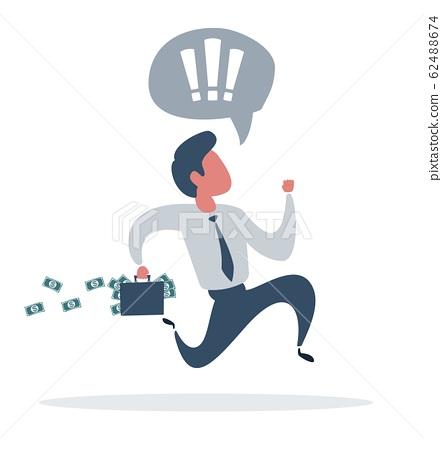 Businessman is running. Business concept illustration. 62488674