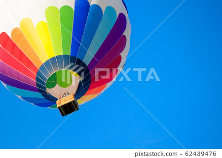 colorful hot air balloon on a beautiful summer day 62489476