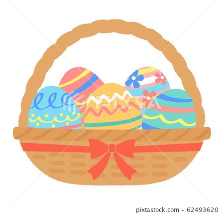 부활절 달걀 바구니 62493620