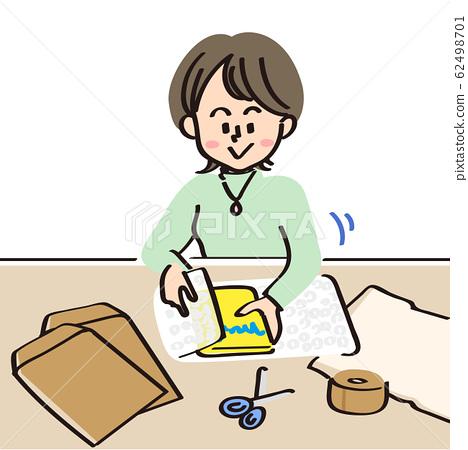 포장 상품 (봉투, OPP 봉투, 완충재, 포장용 테이프, 가위, 풀) 62498701
