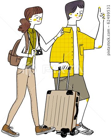 旅行情侶情侶度蜜月 62499531