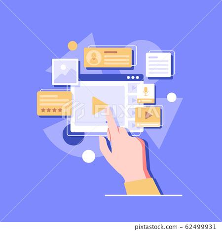 User Interface Design, Application development and UI, UX design. Creative vector 62499931