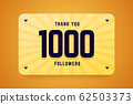 1000 followers vector illustration. Greeting card for social networks. 62503373