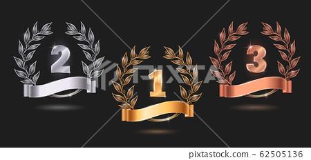 Contest Awards Emblems Realistic Set 62505136
