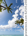 ชายหาดไวกิกิท้องฟ้าสีครามและทะเลสีฟ้าที่งดงาม 62505200