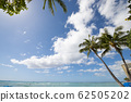 Waikiki Beach blue sky and blue sea perming stock Photos-photolibrary 62505202
