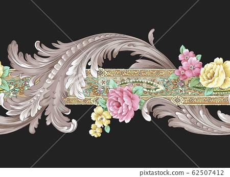 典雅的花朵材料,歐式材料 62507412