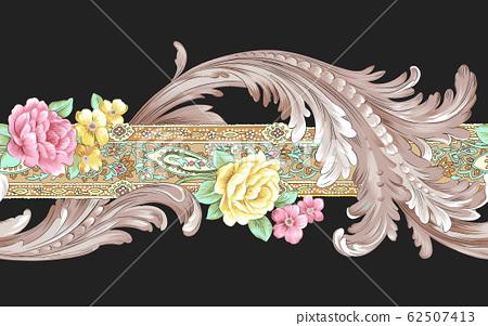 典雅的花朵材料,歐式材料 62507413