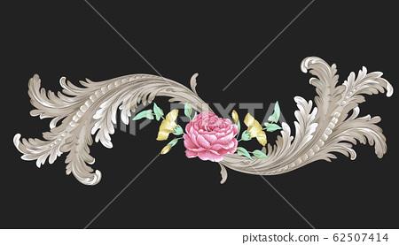 典雅的花朵材料,歐式材料 62507414