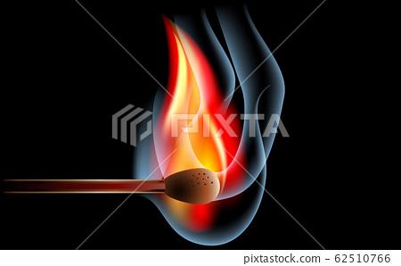 Match on fire 62510766